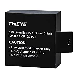 ThiEYE T5e/E7/T5 Edge Action Camera Original Battery Rechargeable Spare Battery 1100mAH 3.7 V Li-ion