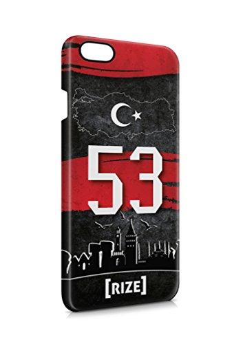 3D iPhone 6 6s Rize 53 Plaka Türkiye Hard Tasche Flip Hülle Case Cover Schutz Handy
