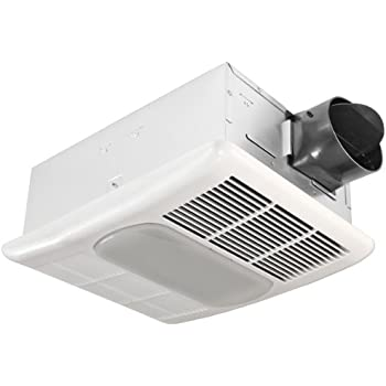 Delta breezgreenbuilder gbr80led 80 cfm exhaust bath fan dimmable led light home for Bathroom exhaust fan with led light