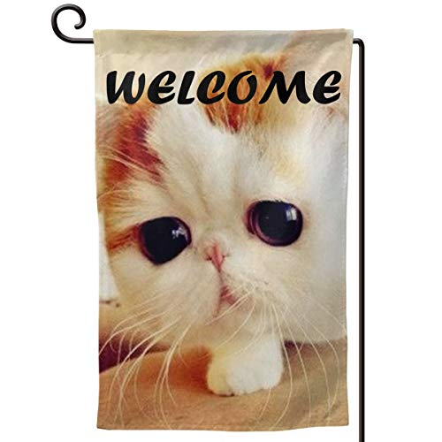 - 185zoejiaqi Garfield Cat Kitten Seasonal House Garden Flag 3D Printed Welcome Banner Holiday Outside Yard Mailbox Flags Colors Decoration Gift-12.518