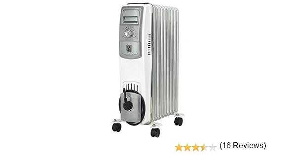 Jocel JI011 013323 Radiador de aceite, 2500 W, Blanco y gris ...