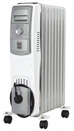Jocel JI07 013309 Radiador de aceite 1500 W, Blanco y gris: Amazon.es: Hogar