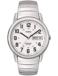 Men's T20461 Easy Reader Silver-Tone Stainless Steel Expansion Band Watch