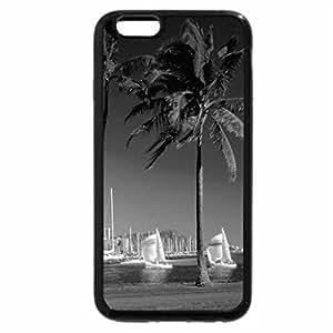 iPhone 6S Case, iPhone 6 Case (Black & White) - Waikiki Beach