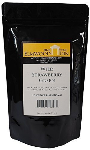 Elmwood Inn Fine Teas, Wild Strawberry Green Tea, 16 Ounce