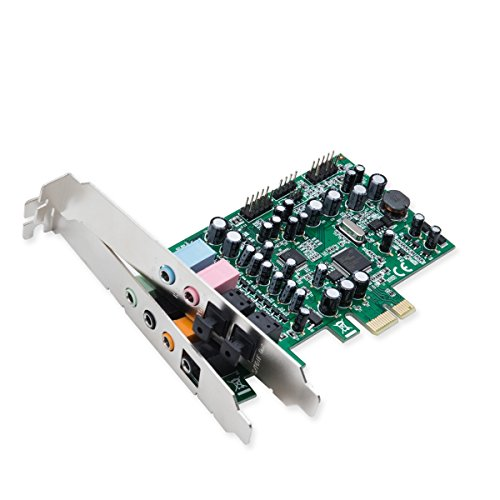 Syba SD-PEX63081 7.1 Surround Sound PCIe Sound Card, S/PDIF In & Out CM8828 (Multi Channel Digital Sound Card)