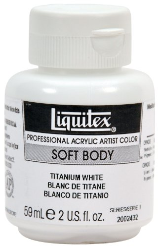 Liquitex Professional Soft Body Acrylic Paint 2-oz jar, Titanium White