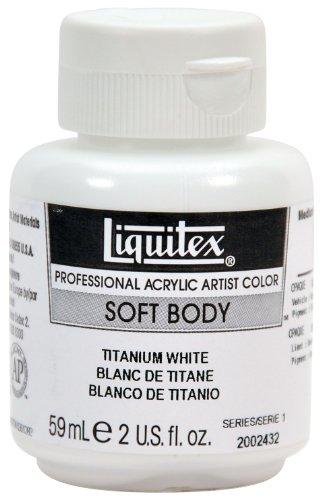 Liquitex 2002432 Professional Soft Body Acrylic Paint 2-oz jar, Titanium White