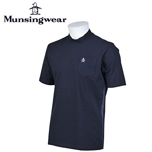 マンシングウェア MUNSINGWEAR ゴルフ メンズ 半袖 ハイネック シャツ シャツ GWMJ380 M145 ネイビー 17sscz サイズ:L