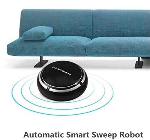 CamKpell USB Recargable Smart Clean Robot Aspirador automático de Piso Limpiador de Barrido Recolector de Polvo doméstico de bajo Ruido - Negro: Amazon.es: Hogar
