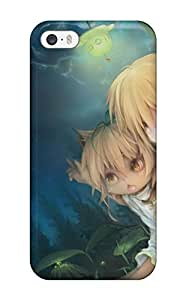 Fashionable MJFybfp6394cKSDM Iphone 5/5s Case Cover For Girls Animal Ears Blondedoggirl Fang Forest Kukki Manahui Night Original Sky Stars Protective Case