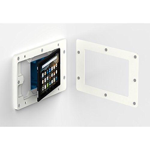 VidaMount On-Wall Tablet Mount - Amazon Fire HD8 7th Gen - White (2017) by VidaMount (Image #4)