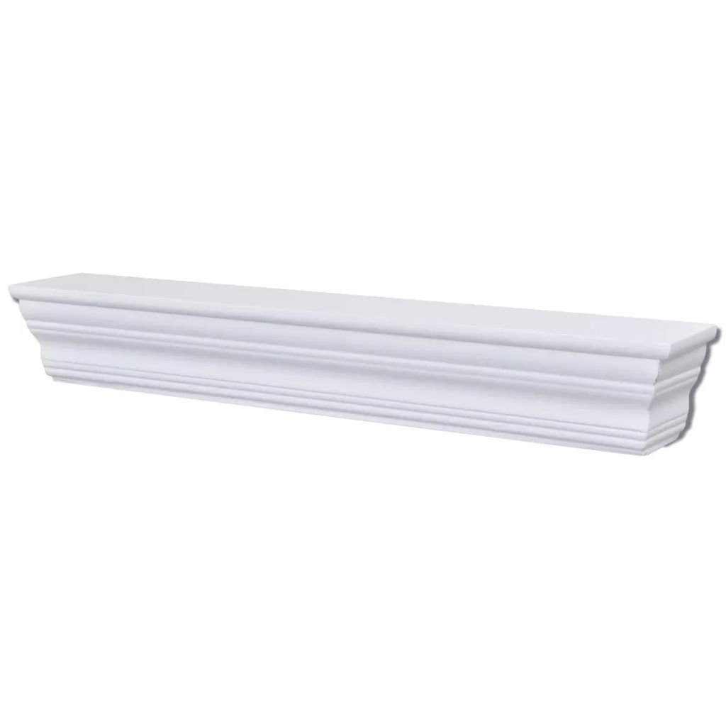 mewmewcat Set de 2 Estanter/ías Decorativa de Pared Blanca