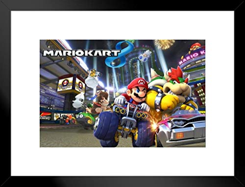 Pyramid America Mario Kart 8 Video Game Matted Framed Poster 26x20 inch