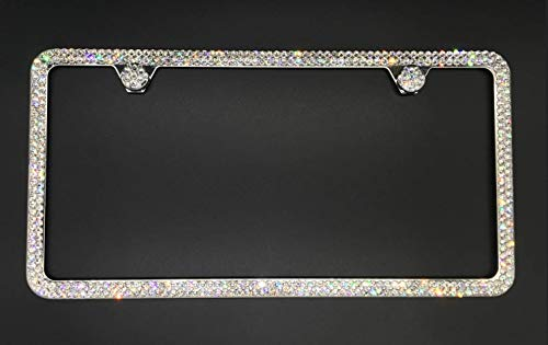 Bling 2 Row License Plate Frame made with Swarovski Crystals - Car Jewelry -  RVMdesigns