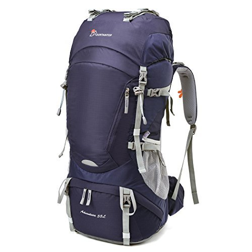 Mountaintop 50L/55L Hiking Backpack with Rain Cover [並行輸入品] B07DVP9L8N