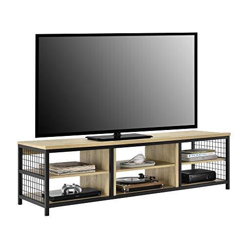 Ameriwood Home Brookspoint TV Stand for TVs up to 75 , Golden Oak