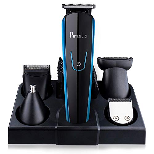 Hair Grooming Clipper Kit Cordless Beard Shaver Nose/Ear Trimmer USB Rechargeable All-In-One Professional Series PhylnLis Multifunction 8188