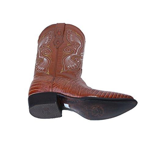 Cowboylaarzen Hagedis Print Cowboy Handgemaakte Luxe Laarzen Tan