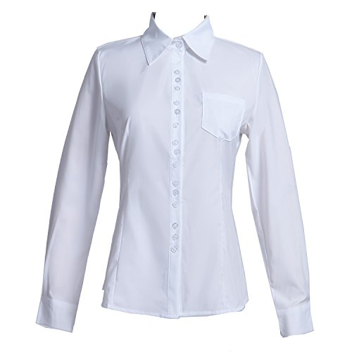 415ea441 Taiduosheng Women's Long Sleeve OL Button Down Shirts Slim Fit Casual Blouse
