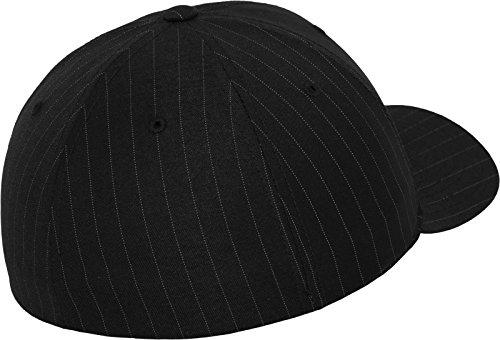 unisex Mütze Flexfit Pinstripe blanco Gorro negro xqZqStCw0