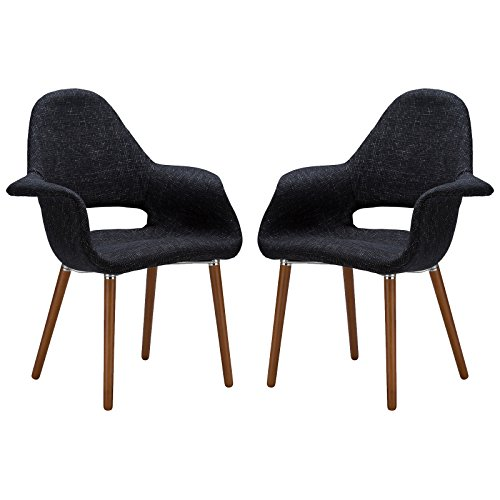 Poly and Bark Barclay Dining Chair in Black (Set of 2)