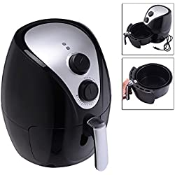 Black Electric 1500W Air Fryer Cooker With Powerful Air Frying Technology And Detachable Basket Low Fat Healthy TSE067A2