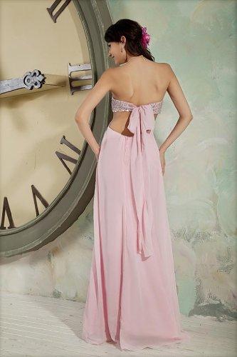 Perlen Reizvolle Chiffon Abendkleid Mieder GEORGE Liebsten Rosa BRIDE wFqqOt