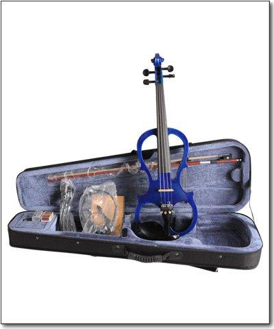 Aileen 4/4 BLUE Electric Violin VE008B + FOAMED CASE + BOW + HEADPHONE + ROSIN by Aileen