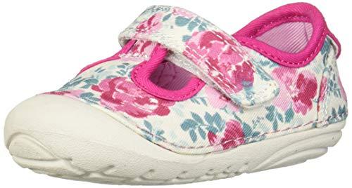 Stride Rite Soft Motion Hanna Girl's T-Strap Sneaker, Floral, 5.5 M US Big Kid