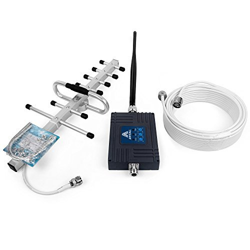 ANYCALL 850MHz 1900MHz AT&T 700MHz Cell Phone Signal Booster with Inside Antenna and Outside Yagi Antenna Can Boost 2G 3G 4G Signal [並行輸入品]   B07DZHZL1H