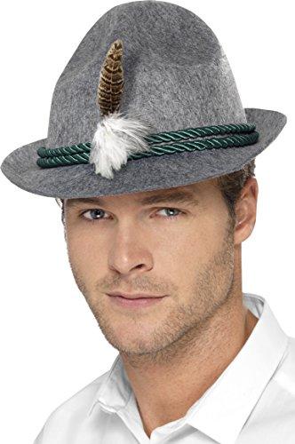 German Beerfest Costume (Smiffy's Men's German Trenker Hat, Green, One Size)