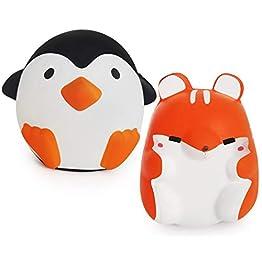 Penguin Squishy & Fox Squishy Combo | Slow Rising Squishies 9