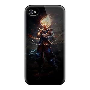 Hot Tpu Cover Case For Iphone/ 4/4s Case Cover Skin - Badass Saiyan