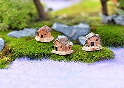 NEW Miniature Fairy Garden Stone House Statue Home Decoration Outdoor Decor 1Pcs