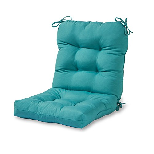 Greendale Home Fashions Outdoor Seat/Back Chair Cushion, Teal (Clearance Patio Cushions Furniture With)