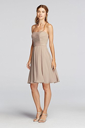 Strapless F18028 Bodice Dress Horizon Bridesmaid Pleated Style AABzPqw