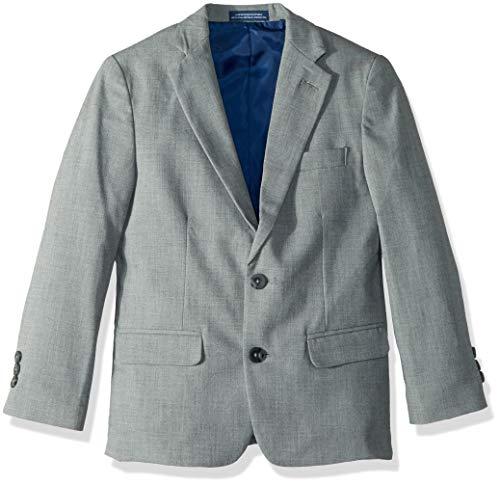Izod boys Patterned Blazer Jacket Sharkskin Light Grey,
