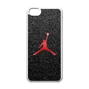 Jordan Logo 001 funda de plástico caja del teléfono celular iPhone 5C funda funda caja del teléfono celular blanco cubre ALILIZHIA10548