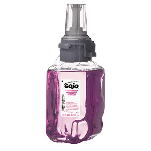 GOJO 871204 Antibacterial Foam Hand Wash, Plum Scent, 700mL Refill (Case of 4)
