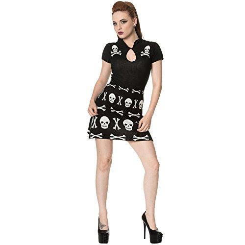 Banned Damen Kleid schwarz schwarz