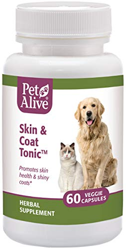 PetAlive PSKN001 Skin and Coat Tonic for Healthy Skin (60 Caps)