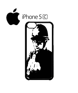 LJF phone case Banksy Policeman Copper Middle Finger Mobile Cell Phone Case Cover ipod touch 4 White