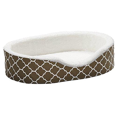 Orthoperdic Egg-Crate Nesting Pet Bed w/ Teflon Fabric Protector, Large Brown