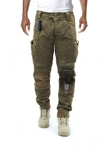 Survival Tactical Gear Men's Airsoft Wargame Tactical Pants with Knee Protection System & Air Circulation System (Coyote Tan, M)