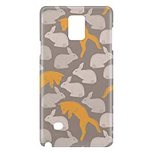 Loud Universe Galaxy Note 5 Spring Rabbit Fox Print 3D Wrap Around Case - Gray