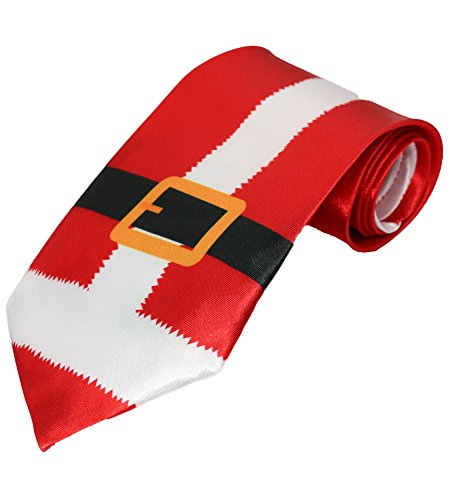 Deluxe Christmas Musical Ties (1, Santa Belt)