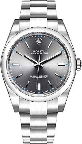 41G8y3km3YL. AC  - Rolex Oyster Perpetual Dark Rhodium Dial Oystersteel Men's Watch Ref. 114300