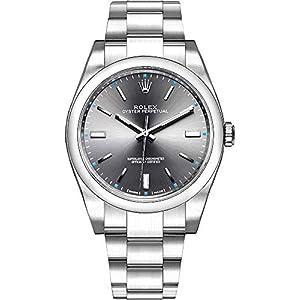 Best Epic Trends 41G8y3km3YL._SS300_ Rolex Oyster Perpetual Dark Rhodium Dial Oystersteel Men's Watch Ref. 114300