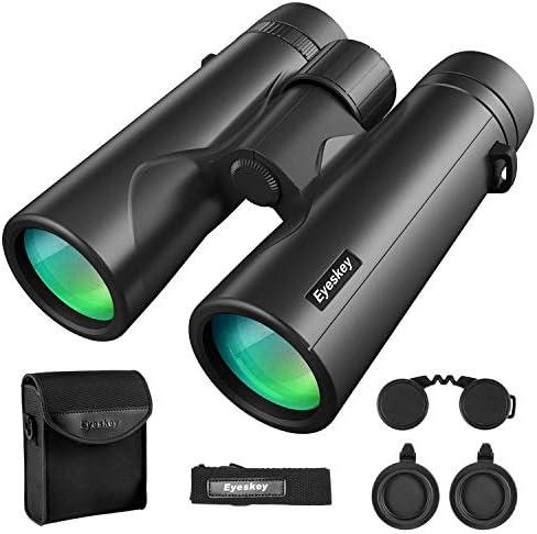Eyeskey 10X42 Powerful Birding Binoculars for Adults Compact Long Distance Waterproof Binoculars Perfect for Bird Watching Deer Hunting Stargazing